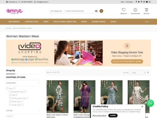 Western Wear For Women   Western Wear Online By Amrut The Fashion Icon