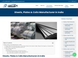 Sheets, Plates & Coils Manufacturer In India