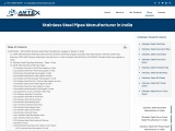 Stainless Steel Pipes Manufacturer In India
