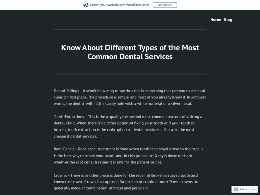 Know About Different Types of Dental Services