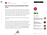 How To Purchase Customized Bottles At Best Prices