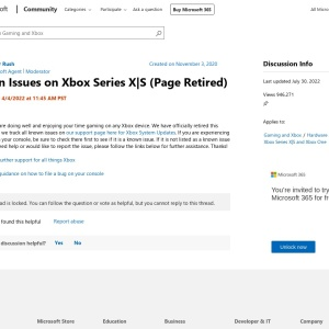 Known Issues on Xbox Series X|S - Microsoft Community