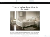 Types of antique home décor in the market