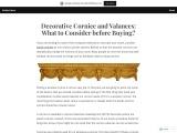 Decorative Cornice and Valances
