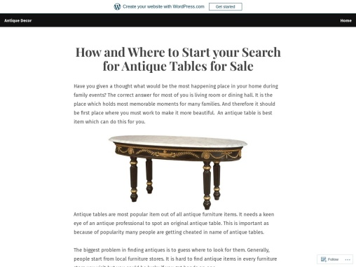 Start your Search for Antique Tables for Sale