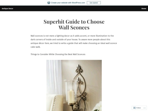 Wall Sconces – Not a Mere Lighting Decor