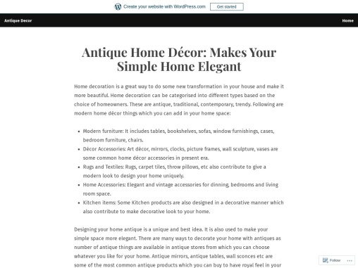 How Antique Products Décor your Home
