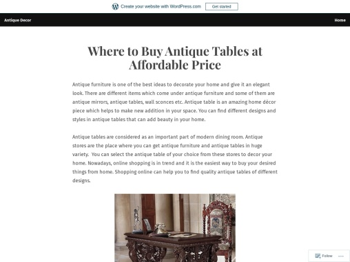 How to Decor Home with Antique Table