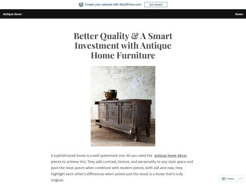 Better Quality & A Smart Investment with Antique Home Furniture