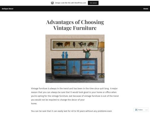 Advantages of Choosing Vintage Furniture