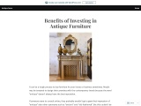 Benefits of Investing in Antique Furniture