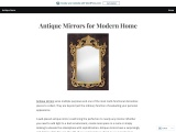 Antique Mirrors for Modern Home