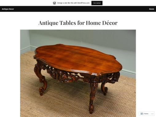 Antique Tables for Home Décor