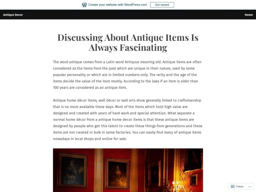 Discussing About Antique Items Is Always Fascinating