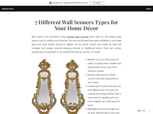 7 Different Wall Sconces Types for Your Home Décor