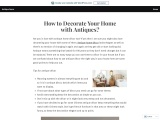 How to Decorate Your Home with Antiques?