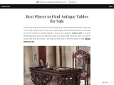 Best Places to Find Antique Tables for Sale