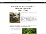 Antique tables decorating ideas- affordable inspiration is everywhere!