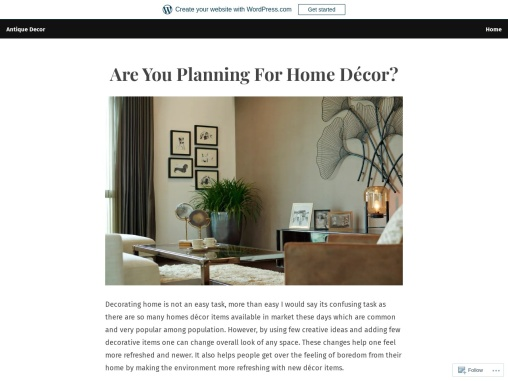 Are You Planning For Home Décor?