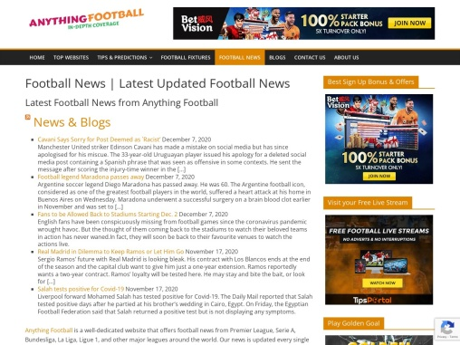 Latest Football News from Anything Football