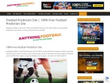 Free Football Prediction Site – Anything Football