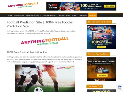 Free Football Prediction Site – Anything Football