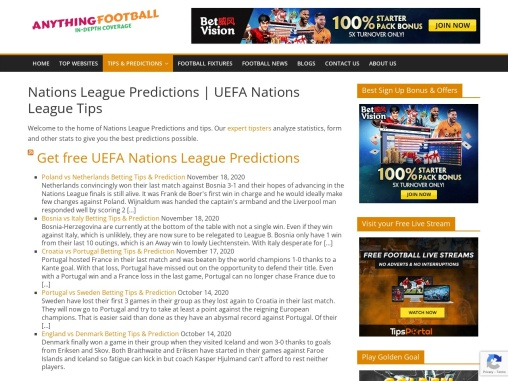 Nations League Predictions and UEFA Nations League Tips
