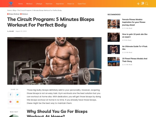 The Circuit Program: 5 Minutes Biceps Workout For Perfect Body