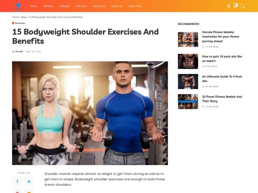 15 Bodyweight Shoulder Exercises And Benefits