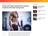 Chest and Tricep workout for massive muscles and much many more