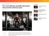 The most effective deadlift alternative that provide minimum pain
