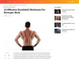 10 Effective Dumbbell Workouts For Stronger Back