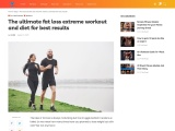 The ultimate fat loss extreme workout and diet for best results