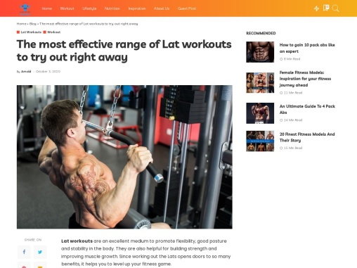 The most effective range of Lat workouts to try out right away