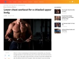 Lower chest workout for a chiseled upper body