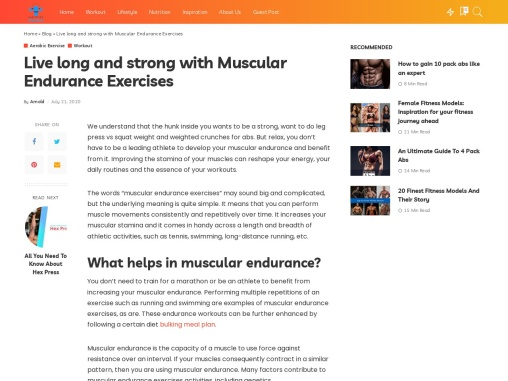 Live long and strong with Muscular Endurance Exercises