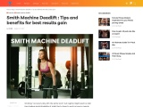 Smith Machine Deadlift : Tips and benefits for best results gain