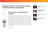 Dwayne Johnson- Do You Know Secrets of The Rock Diet and Exercises?