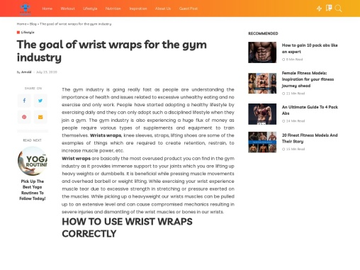 The goal of wrist wraps for the gym industry