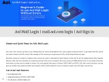 AOL mail login and sign in steps