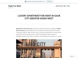 Luxury Apartments for rent in Gaur City