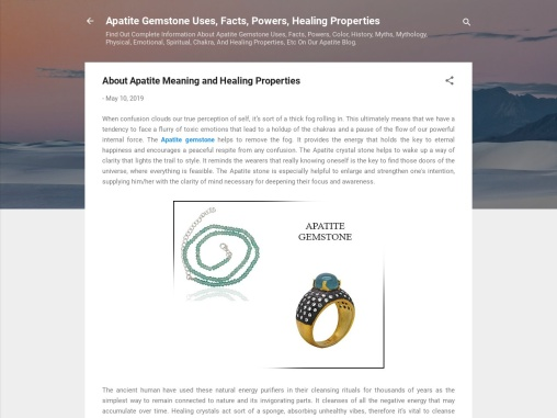 About Apatite Meaning and Healing Properties