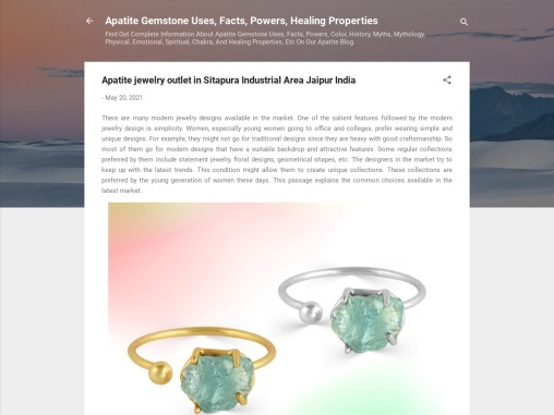 Apatite jewelry outlet in Sitapura Industrial Area Jaipur India