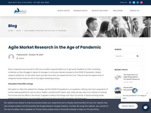 Agile Market Research in the Age of Pandemic