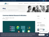 Common Market Research Mistakes you don't to commit
