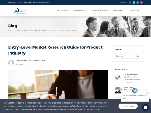 Entry-Level Market Research Guide for Product Industry