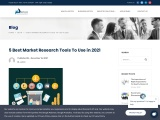 5 Best Market Research Tools To Use in 2021