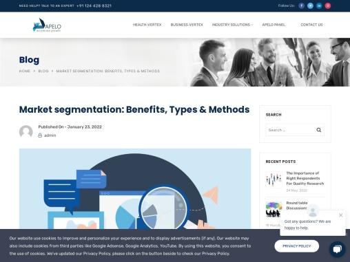 Market segmentation: Benefits, Types & Methods