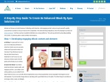 A step by step guide to create an Enhanced Ebooks: Apex Solutions Ltd