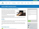 Flash TO HTML5 Conversion Services